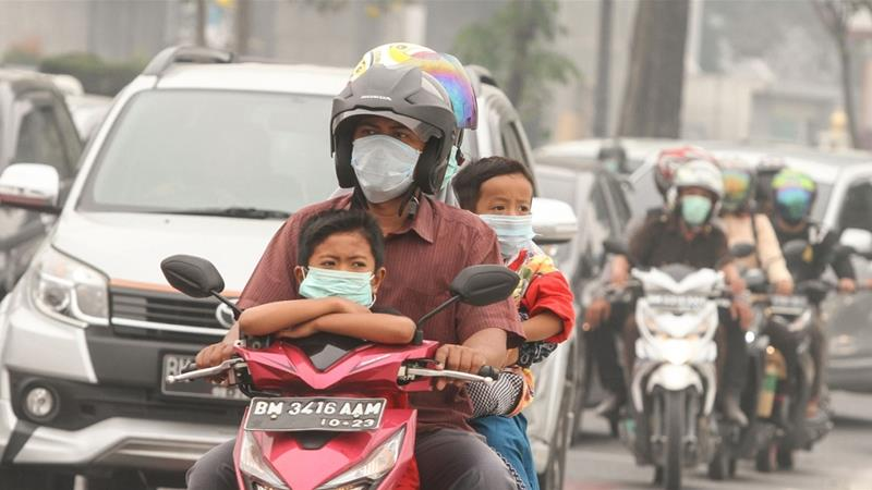 Indonesia fires: Palm oil companies accused of starting blazes