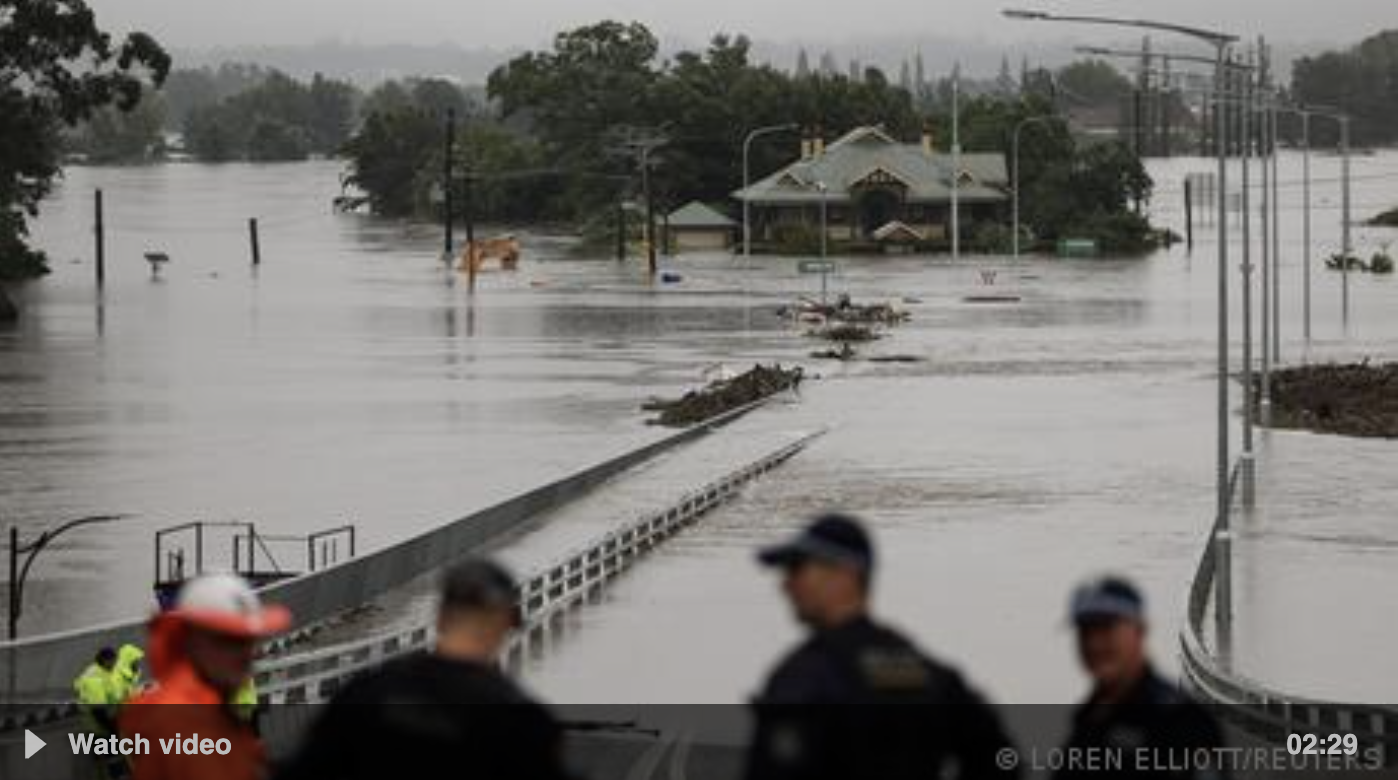 Australia floodwaters rise as rescue services help locals